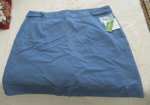 Liz Claiborne Golf Skirt Ladies Size 14 - stretch - blue  W/ Pockets New w/tags