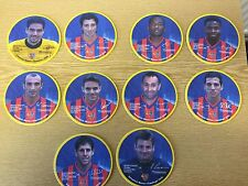 2001/02 FC Basle Champions League Set of 10 Player Football Beer Mats Cards