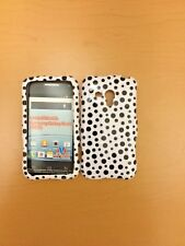 SAMSUNG RUSH M830 BLACK DOTS ON WHITE SNAP ON COVER/CASE NEW