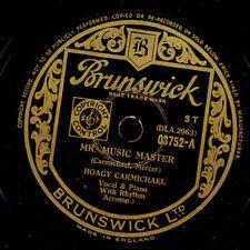 HOAGY CARMICHAEL  Mr. Music Master / Hong Kong Blues    Schellack 78rpm   X1095
