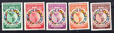 Dominican Republic # 351-55 Mint Vlh Complete 1940 Set Flag Map