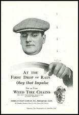 1924 vintage ad for Weed Tire Chains