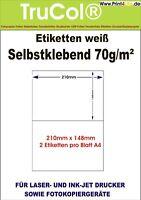 400x Versand Etiketten 210x148 selbstklebend Paket Aufkleber Hermes DHL DPD UPS