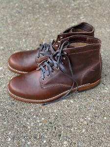 """Wolverine Men's 1000 Mile 6"""" Boots Brown Leather Size 9.5 D"""