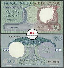 Congo | 20 Francs | 15.9.1962 | P.4a(7) | NA 140261 | XF+/aUNC