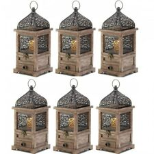 Lot 6 Large Lantern Wood Candle Holder Wedding Centerpieces with Drawer
