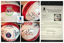 2015 -2016 Paris Saint-Germain Signed Soccer Ball zlatan ibrahimovic BAS COA !