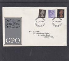 GB 1967 Machin Definitives 4d 1/- 1/9 FDC First Day Cover Windsor fdi h/s