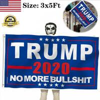 Fly Donald Trump 2020 Flag No More BS 3x5Ft MAGA Flag Banner Blue Flag hi