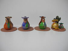 MEXICAN FOLK ART CERAMIC FIGURINES CHARMING MARIACHI AND 3 NAPKIN HOLDER