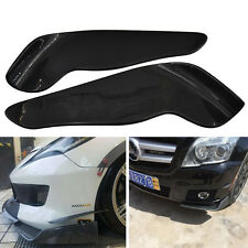 2x Carbon Look Racing Car Front Bumper Wings Spoiler Canard Lip Diffuser Cover
