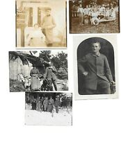 5x diff Ww1 German Real Photos Soldiers In Uniform Group Pose lot History #3