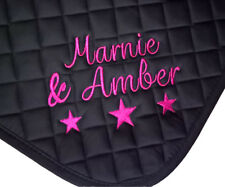 Personalised Embroidered Saddle Cloth with stars, Pony,Cob,Full,9 colours,numnah