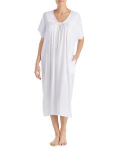 Donna Karan Women's White Crepe Caftan SIZE L/XL