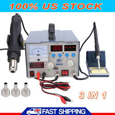 3 in 1 863d SMD DC Power Supply Hot Air Iron Gun Rework Soldering Station 800W S