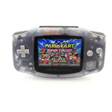 GBA Game Boy Advance Game Console with iPS Backlight LCD MOD -Clear Glacier