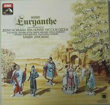 EURYANTHE - JESSYE NORMAN-RITA HUNTER-NICOLAI GEDDA  - 4 LP BOXSET - QUADRO