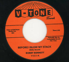"""Bobby Bennett - """"Before I Blow My Stack"""" 1963 Philly R&B 45-stock copy-V-Tone"""