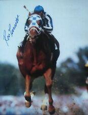 Ron Turcotte autograph  Secretariat Belmont Stakes 8x10