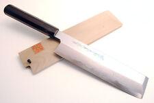 """Blue Steel Suminagashi Damascus Edo Usuba 8.25"""" Ebony Vegetable knife YOSHIHIRO"""