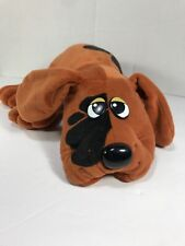 "Tonka Pound Puppies Brown w Black Spots 18"" Stuffed Plush Dog 1985 Vintage EUC"