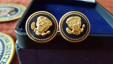 CUFF LINKS 24K GOLD-PLATED PRESIDENTJOE BIDEN VIP BLUE COBALT