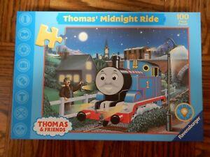 Thomas' Midnight Ride 100 Piece Puzzle - Glow In The Dark - Ravensburger