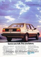 1989 VW Volkswagen Jetta - Original Advertisement Print Art Car Ad J722
