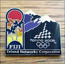 Torino 2006 20th Winter Olympic South Pacific Islands Television media pin