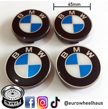 4x BMW 65mm Wheel Center Caps Stickers Hub Emblem Blue/White Badge Decals NEW