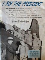 Original 1947 Vintage The American Magazine I fly The President Truman Print Ad