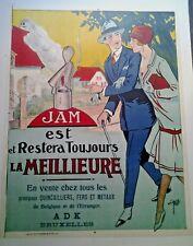 AFFICHE ANCIENNE  JAM QUINCAILLERIE BRUXELLES CLERICE 1925