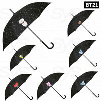 BTS BT21 Official Authentic Goods Automatic Long Umbrella Pattern Black +Express