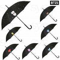 BTS BT21 Official Authentic Goods Automatic Long Umbrella Pattern Black +Express