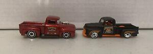 Hot Wheels Ford '49 F1 and Custom '55 Pickup Trucks Lot Of 2