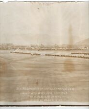 1917 Wwi Panoramic Photo of Largest Artillery Regiment Review at El Paso Texas