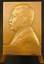 Médaille à Émile Bouton signée du sculpteur Max Blondat en 1923 medal