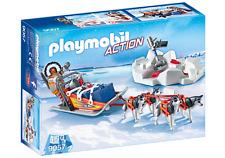 Playmobil Action Réf 9057 Eskimo avec Traîneau chien, NEUF, Neiges
