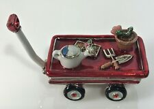 New ListingMonet Wagon With Garden Tools Collectible Keepsake Enamel Trinket Box