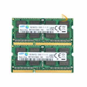 Samsung 16gb 2x 8gb 2rx8 pc3l-12800s ddr3 1600mhz 1.35v SODIMM Laptop Memory