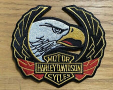 Vintage Harley Davidson  Up Wing Eagle Head Iron On Patch Embroidered