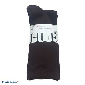 Hue Women Crew Cut Socks 6 Pack Solid Gray Brown White One Size New