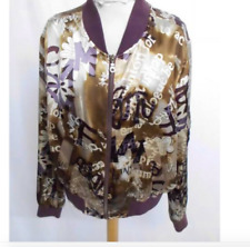 Silk Bomber JACKET Large style with zip New with tags