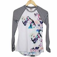 Calia by Carrie Underwood Rash Guard Swim Shirt Sz XS Mixed-Print Floral