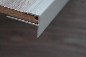 Aluminium Set mit 15 Stück x 120 cm F form Laminat treppen Treppenkantenprofil