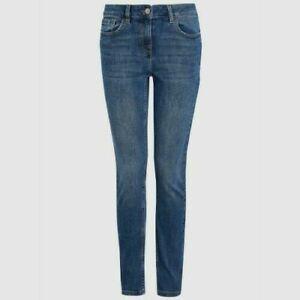 NEXT Ladies Everyday Slim Leg Blue Stretch Jeans Size 8R NEW