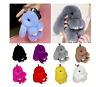 Keyring Soft Faux Fluffy Bunny Rabbit Fur Handbag Pendant Charm PomPom Keychain
