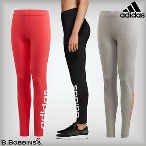 🔥 Adidas® E Linear Tight Girls Leggings Age 4-5-6-7-8-9-10-11-12-13-14-15 Years