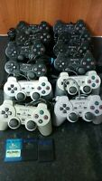 Job Lot of 14 x Faulty Sony Playstation 2 PS1 Official Controllers Spares Repair