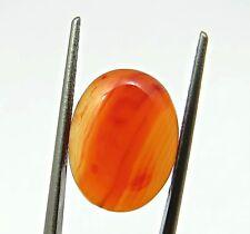 7.37 Cts Natural Orange Carnelian Oval Cabochon Loose Gemstone